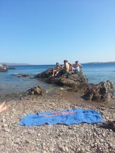 Opgravingen (en waterpret) te Thorikos, Griekenland